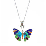 Sterling Silver Inlay Butterfly Necklace