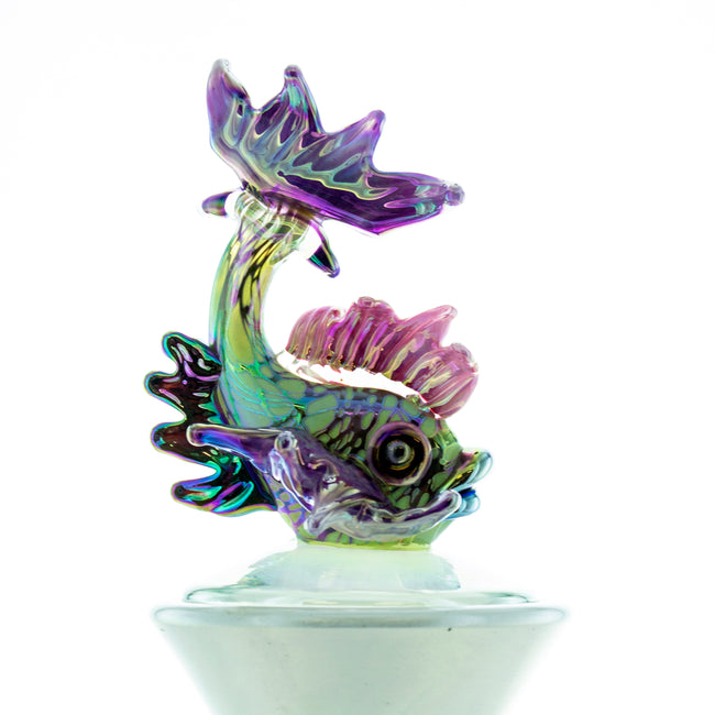 Art Glass Fish Decanter by Stuart Abelman