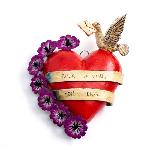 Handmade Heart Ornament from Peru