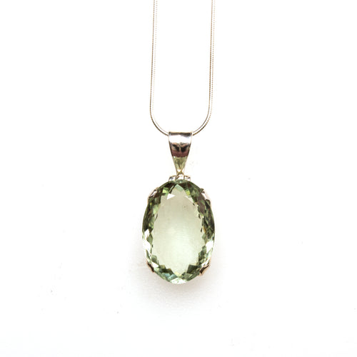 SS Green Amethyst Necklace