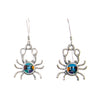 Sterling Silver Dainty Crab Inlay Earrings