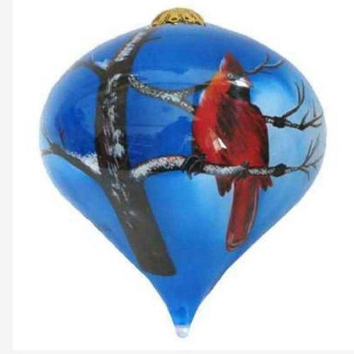 Hand-painted Winter Cardinal Ornament