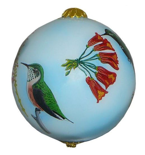 Hand-painted Hummingbird Ornament