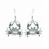 Sterling Silver Mother of Pearl Crab Earrings