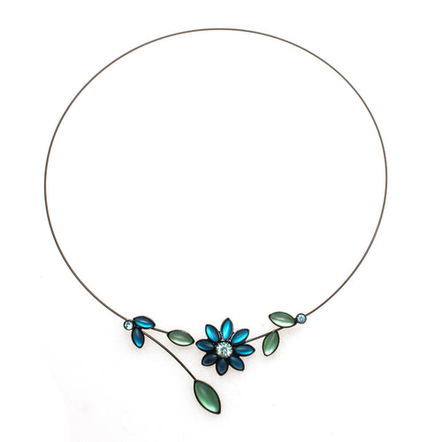 Branch & Bloom Memory Wire Necklace