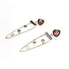 SS Watermelon Tourmaline Spear Earrings