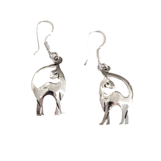 SS Cat Strut Earrings