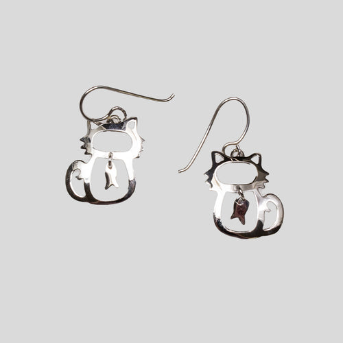 SS Cat & Fish Earrings