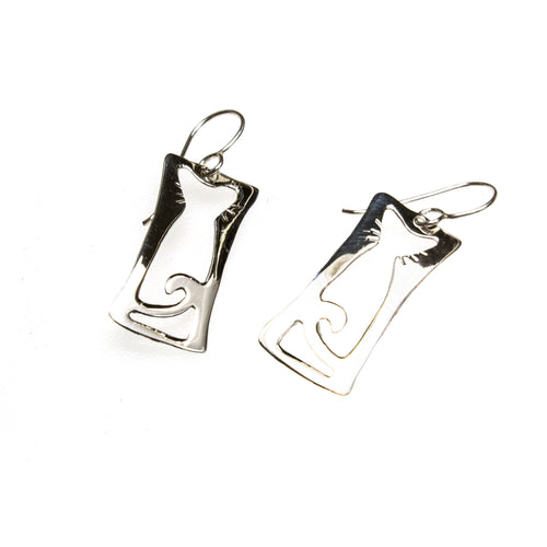 SS Cat Silhouette Earrings