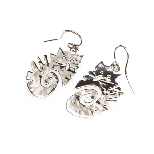 SS Scaredy Cat Spiral Earrings