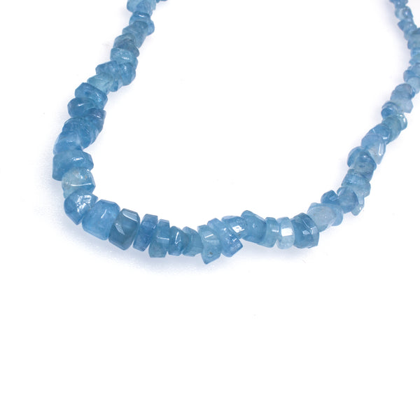Sterling Silver Aquamarine Chip Bead Necklace