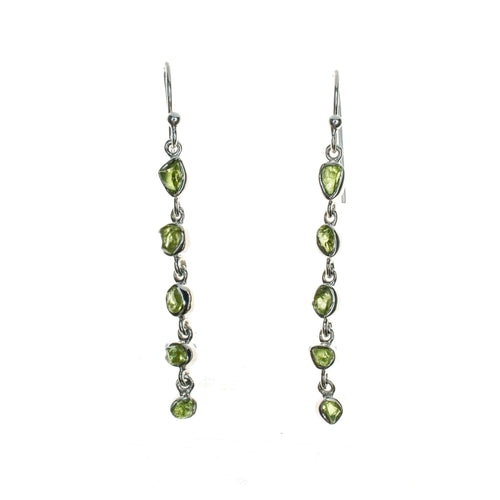 Sterling Silver Peridot Drop Dangle Earrings