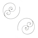 Sterling Silver Double Spiral Wire Earrings