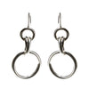 Sterling Silver Puff 4 Ring Dangle Earrings