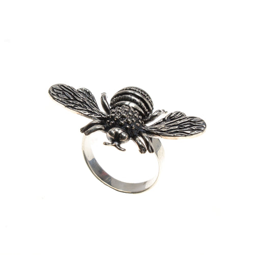Sterling Silver Adjustable Bee Ring