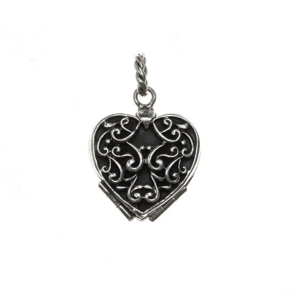 Sterling Silver Quatrefoil Heart Locket