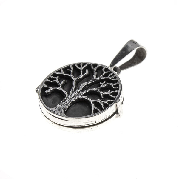 Sterling Silver Round Tree of Life Locket