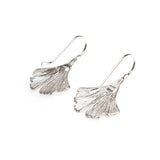 SS Gingko Leaf Hook Earrings