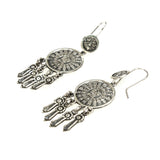 SS Mayan Calendar Dangle Earrings