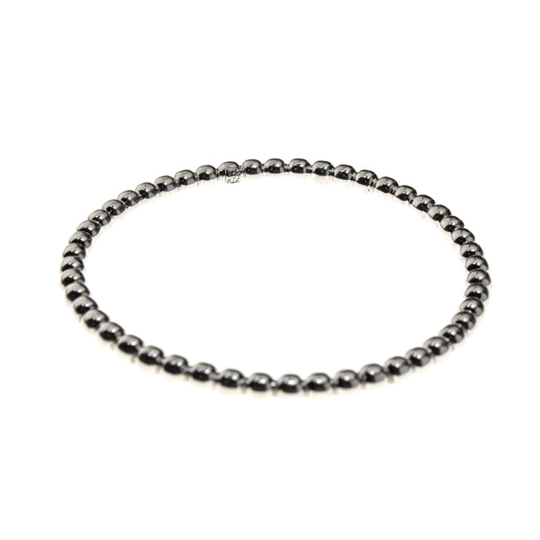 Sterling Silver Bead Bangle Bracelet