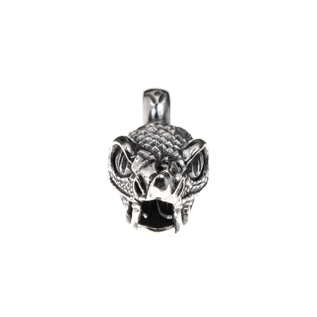 Sterling Silver Large Snake Head Pendant