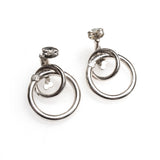 SS Gradating Circle Link Earrings