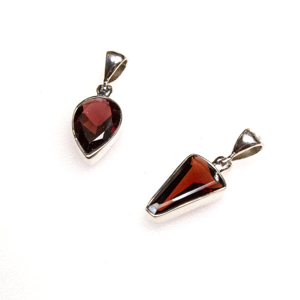 SS Assorted Garnet Pendants