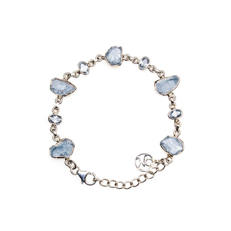 SS Rainbow Moonstone Oval, Pear & Marquis Toggle Bracelet