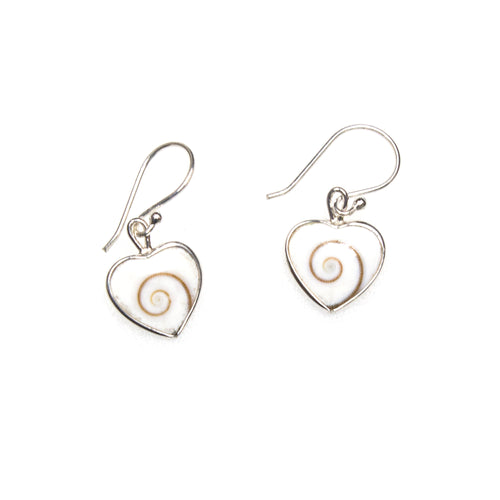 SS Shiva Shell Heart Earrings