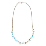 SS London Blue Topaz Heart Necklace