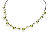 SS Round and Trillion Peridot Necklace