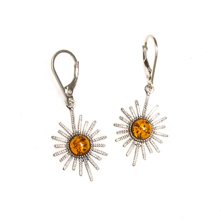 SS Amber Cat Earrings