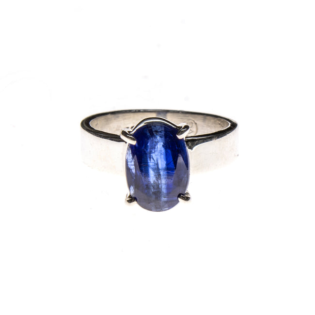 SS Faceted Kyanite Prong Ring