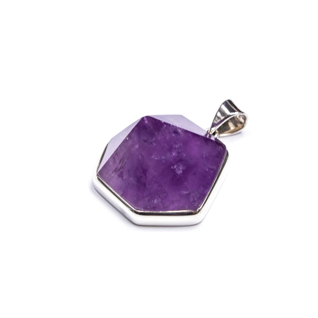SS Amethyst Point Pendant