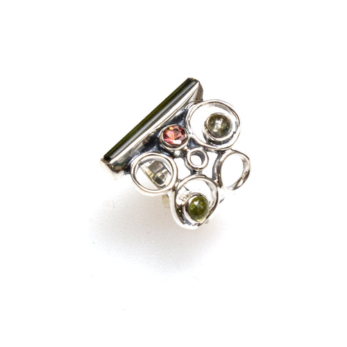SS Tourmaline Bubble Ring