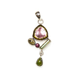 SS Watermelon Tourmaline Collection Pendant