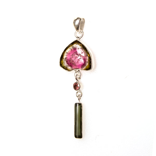 SS Watermelon Tourmaline Focal Pendant