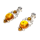 SS 3 Amber Filigree Earrings