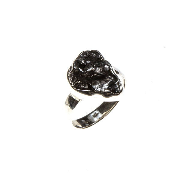 Sterling Silver Assorted Meteorite Nugget Ring