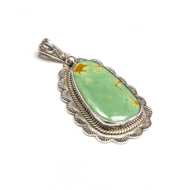 SS Green Turquoise Pendant
