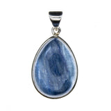 Sterling Silver Kyanite Pear Pendant