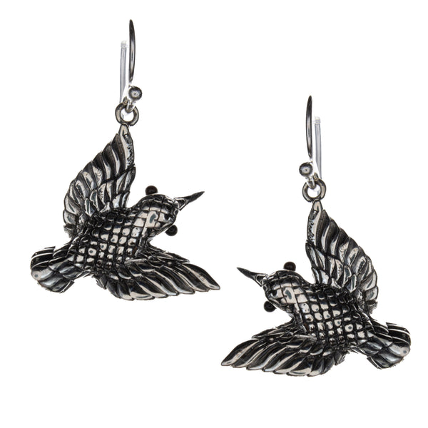 Sterling Silver Hummingbird Earrings
