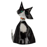 Art Glass Cat Tuxedo