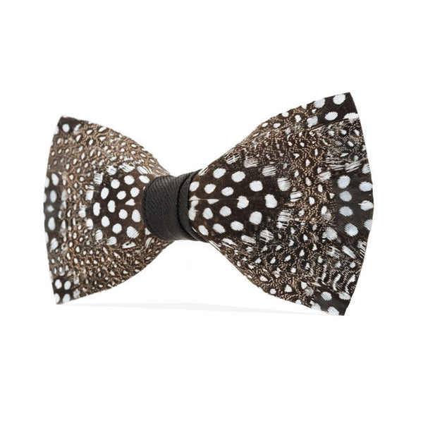 Guinea Fowl Feathers Bow Tie
