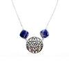 SS Square Sodalite & Filigree Necklace
