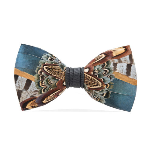 Colorful Partridge Feather Bow Tie