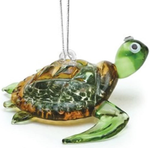Glass Sea Turtle Ornament