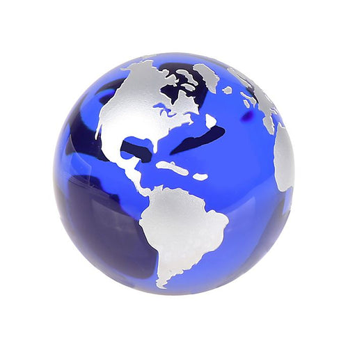 Globe Paperweight - Blue and Silver