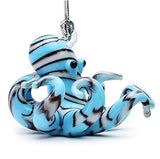 Blue Striped Octopus Ornament