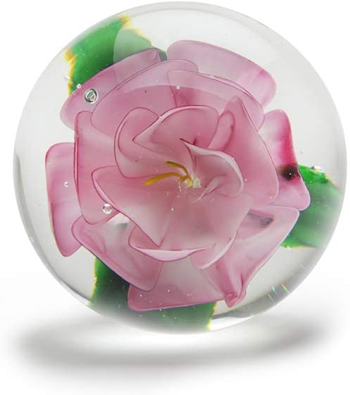Camelia Globe Paperweight